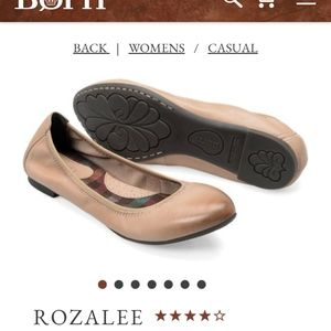 BORN Rozalee Taupe Full Grain Leather Flats
